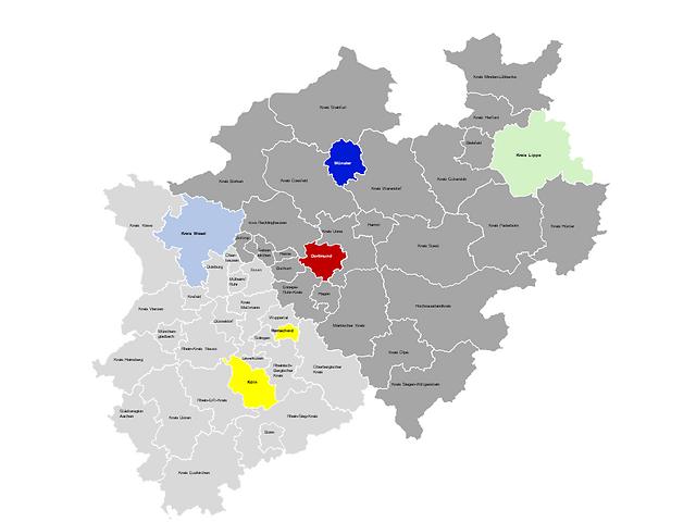 Studienorte: Dortmund, Köln, Münster, Remscheid, Kreis Lippe, Kreis Wesel